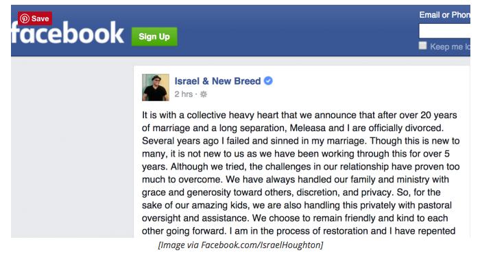 Israel Houghton Facebook Open Letter