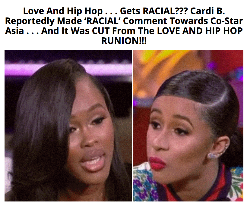 "Cardi B Hip Hop: ""Black Cockroach""?! Swift's Ex GF Asia Responds To Cardi B"