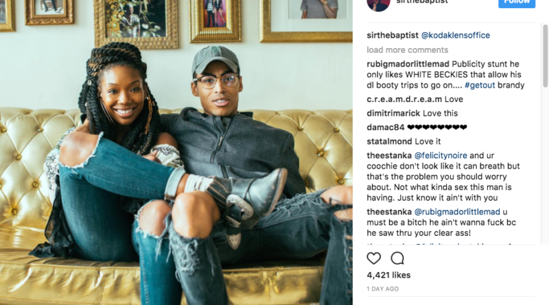 brandy and sir the baptist dating instagram pic