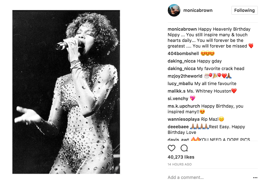 brandy monica fans whitney houston instagram tribute 15