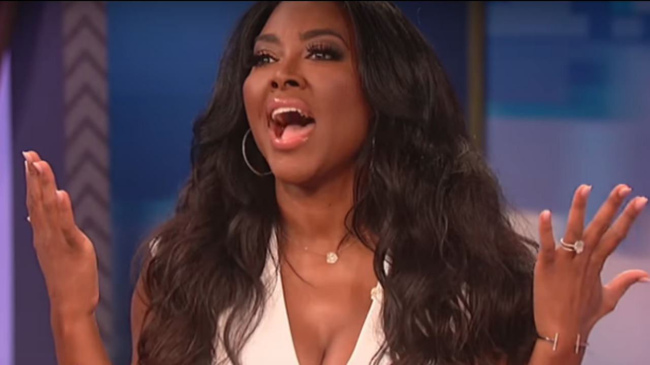 Kenya Moore Can't Deny Pregnancy Rumors on Wendy Williams Show