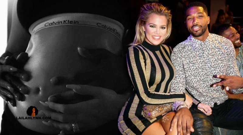 khloe kardashian baby bump pregnancy belly tristan thompson engaged married