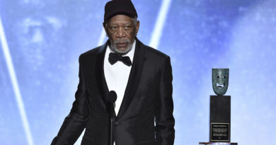 See who Morgan Freeman was really addressing when he completely stopped his SAG Awards acceptance speech.