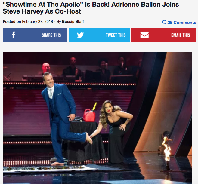 adrienne bailon the apollo steve harvey