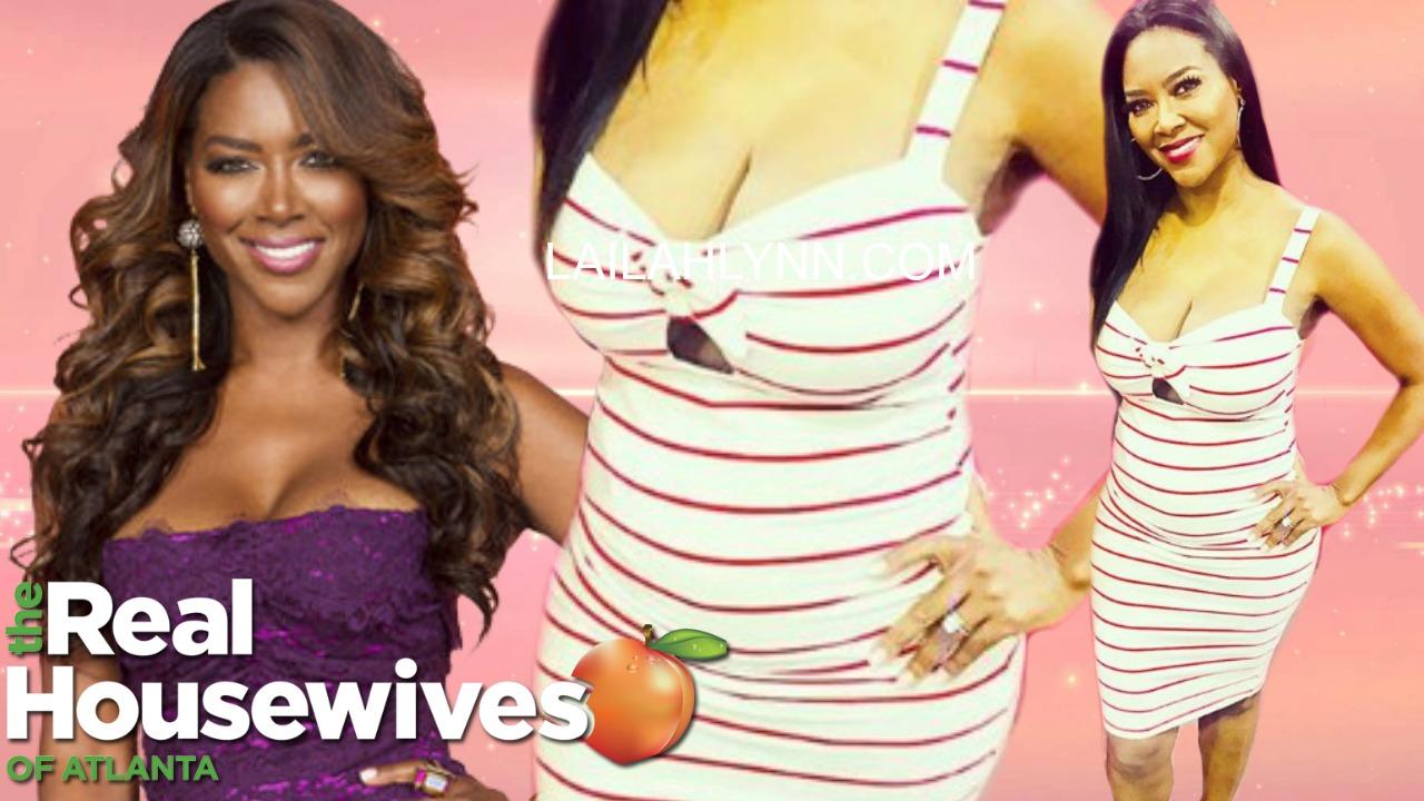 Kenya Moore SHOWING OFF HER BABY BUMP! Real Housewives of Atlanta Season 11 tea