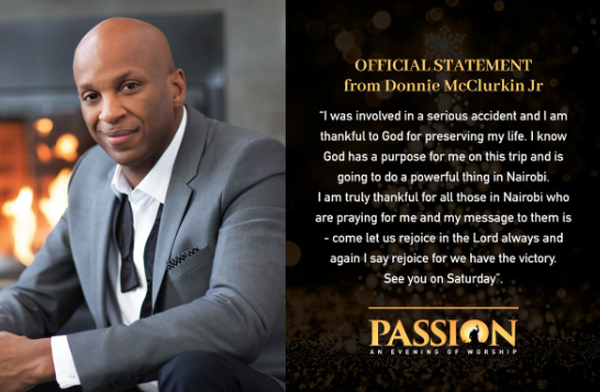 Donnie Mcclurkin Passes Out While Driving Crashes His Car Leaving